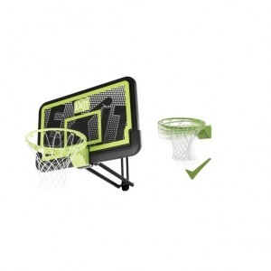 Exit Galaxy Wall-mounted Basketball Backboard With Dunk Ring - Black Edition