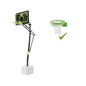 Exit Galaxy Ground-mounted Basketball Backboard with Dunk Ring - Black Edition