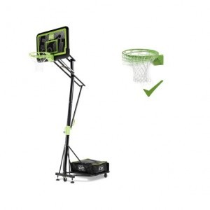 Exit Galaxy Portable Basketball Backboard On Wheels with Dunk Ring - Black Edition