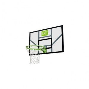 Exit Galaxy Basketball Backboard with Ring And Net - Green / Black