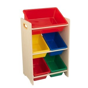 5-piece Bin Storage Unit 'Sort it and Store it' (primary colors) - KidKraft (15472)