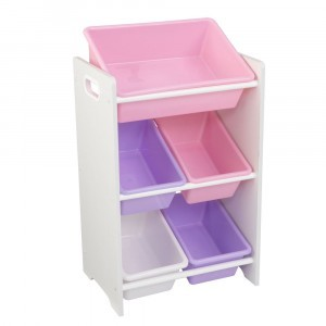5-piece Bin Storage Unit 'Sort it and Store it' (pastel) - KidKraft (15473)
