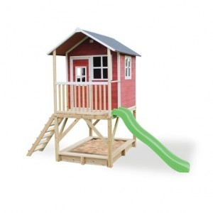 Exit Loft 500 Wooden Playhouse - Red