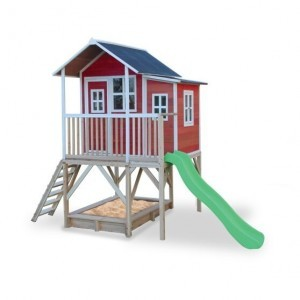 Exit Loft 550 Wooden Playhouse - Red
