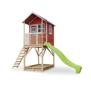 Exit Loft 700 Wooden Playhouse - Red