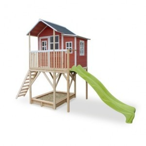Exit Loft 750 Wooden Playhouse - Red