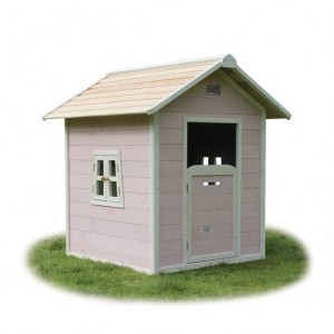 Beach 100 wooden play house - pink - Exit (50.30.01.00)