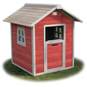 Beach 100 wooden play house - red - Exit (50.30.03.00)