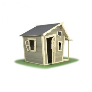 Exit Crooky 150 Wooden Playhouse - Gray Beige