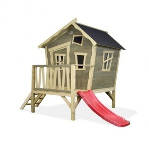 Exit Crooky 300 Wooden Playhouse - Gray Beige