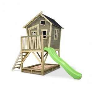 Exit Crooky 500 Wooden Playhouse - Gray Beige