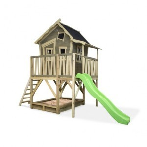 Exit Crooky 550 Wooden Playhouse - Gray Beige