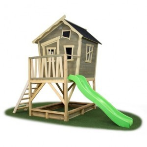 Exit Crooky 700 Wooden Playhouse - Gray Beige