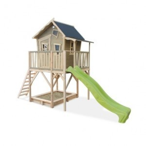 Exit Crooky 750 Wooden Playhouse - Gray Beige