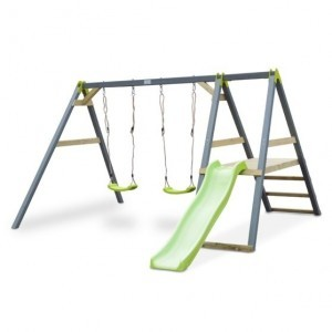Aksent duo swing with 2 swing seats and a slide - Exit (52.03.40.00)