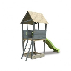 Exit Aksent Wooden Climbing Frame - Gray