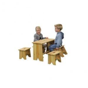 Picnic set with four children's stools - Exit (52.90.20.00)