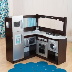 Espresso and Silver Corner Kitchen - Kidkraft (53302)