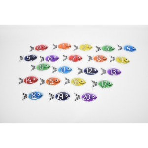 Rainbow Gel Number Fish - Pk21