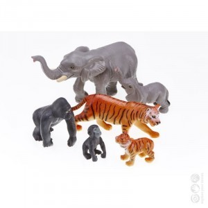 Jumbo Jungle Animals - Mommas & Babies - Explore your senses (60162)