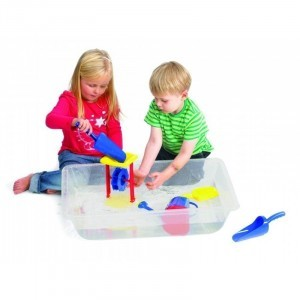 Clear Desktop Sand and Water Tray - Explore your senses (61207)
