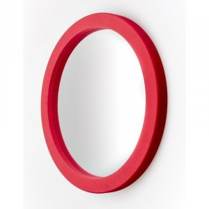 Round Foam Wall Mirror - (63117)