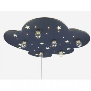 Niermann Ceiling lamp cloud with fluorine star XXL - blue