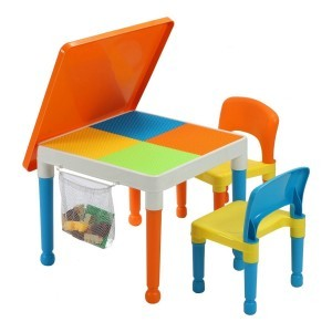 Multipurpose Activity Table & 2 Chairs with Storage Bag - Liberty House Toys (652-F)