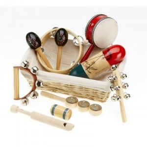 Natural Children's Percussion Basket - Explore your senses (66504)