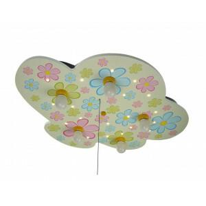 "Ceiling Lamp Cloud, Colorful Flowers ""Amazon Echo Compatible"""
