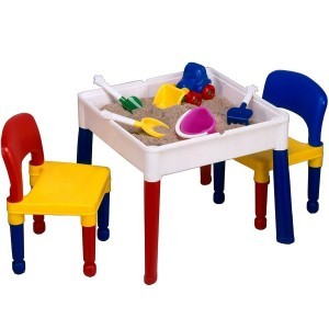 5 in 1 Multipurpose Square Activity Table & 2 Chairs - Liberty House Toys (698)