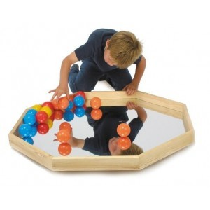 Play Tray with Mirror and Balls - Sensory Toy (6MITB)