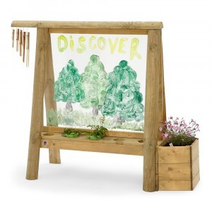 Plum Discovery Create and Paint paint easel wood