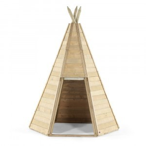 Great Wooden Teepee Hideaway Playhouse - Plum (7092.184)