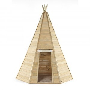 Grand Wooden Teepee Hideaway Playhouse - Plum (7092.185)