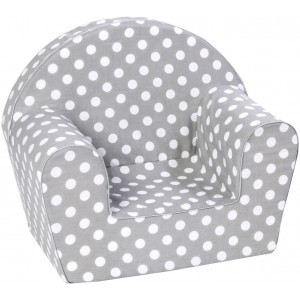 Children's Armchair, Dots Gray - Knorrtoys (7104475523)