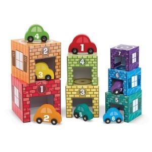 Nesting and Sorting Garages/ Car - Melissa & Doug (12435)