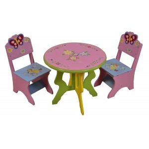 Butterfly Table & Chairs Set - Liberty House Toys (LHT10023)