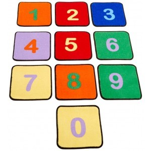 Number Squares Learning Rugs (Set Of 10) - Liberty House Toys (CPR527)