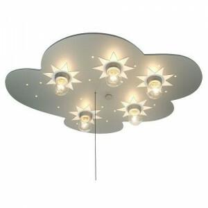 Ceiling Lamp Cloud, Titanium With Stars
