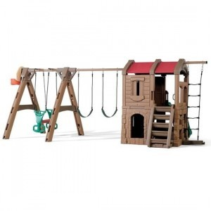 Naturally Playful Adventure Lodge Play Center With Glider - Step2 (801400)