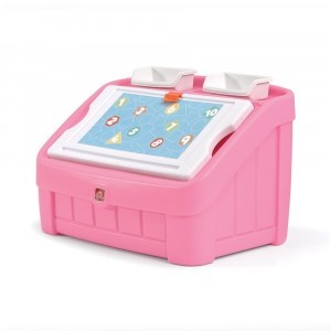 2-in-1 Toy Box & Art Lid (pink) - Step2 (848800)