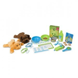 Feeding & Grooming Pet Care Play Set - Melissa & Doug (8551)