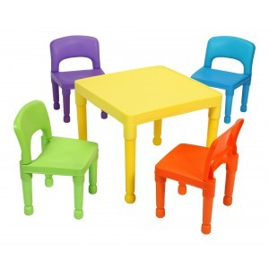 Children's Multi-coloured Table & 4 Chairs Set - Liberty House Toys (8809N)