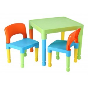 Children's Multi-coloured Table & 2 Chairs Set - Liberty House Toys (8809UN)