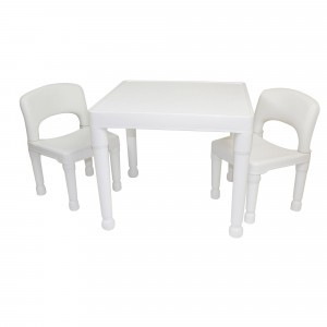 Children's White Table & 2 Chairs Set - Liberty House Toys (8809W)
