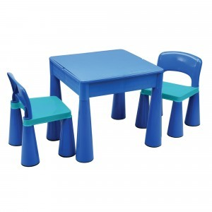 5 in 1 Multipurpose Activity Table & 2 Chairs – Blue - Liberty House Toys (899B)