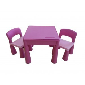5 in 1 Multipurpose Activity Table & 2 Chairs – Pink - Liberty House Toys (899PN)