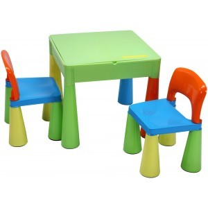 5 in 1 Multipurpose Activity Table & 2 Chairs – Multicoloured - Liberty House Toys (899UN)