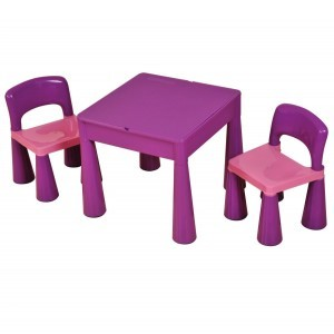 5 in 1 Multipurpose Activity Table & 2 Chairs – Purple - Liberty House Toys (899V)